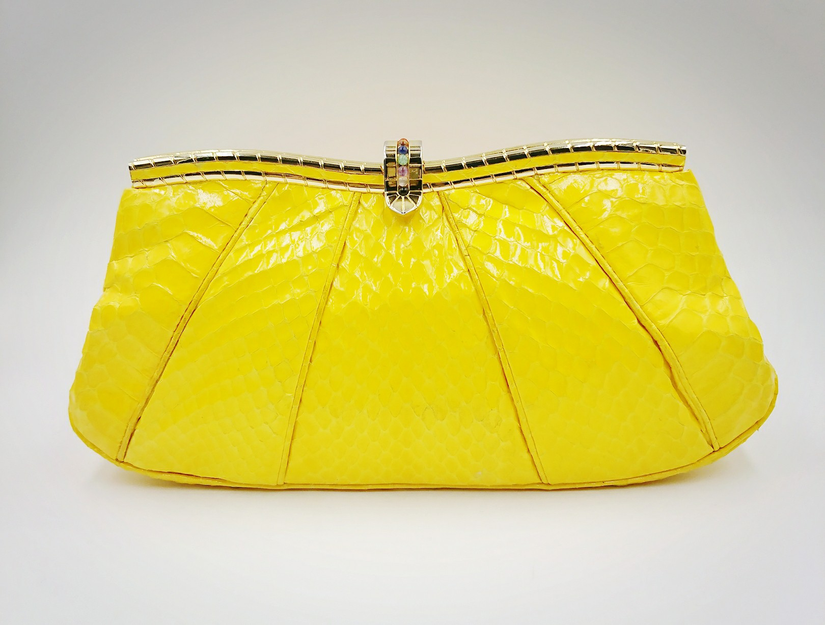 Bright yellow Leiber bag