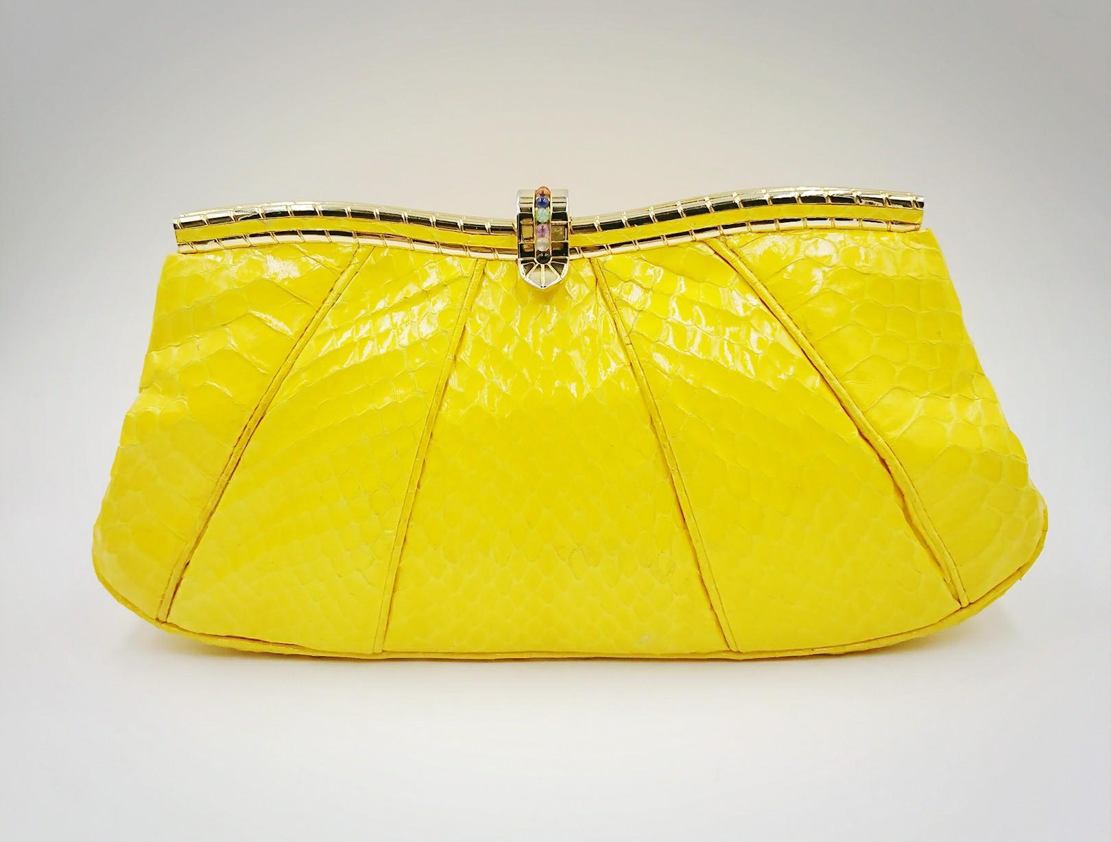 Bright yellow Leiber bag