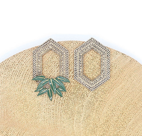 Kyoto bamboo leaf earrings