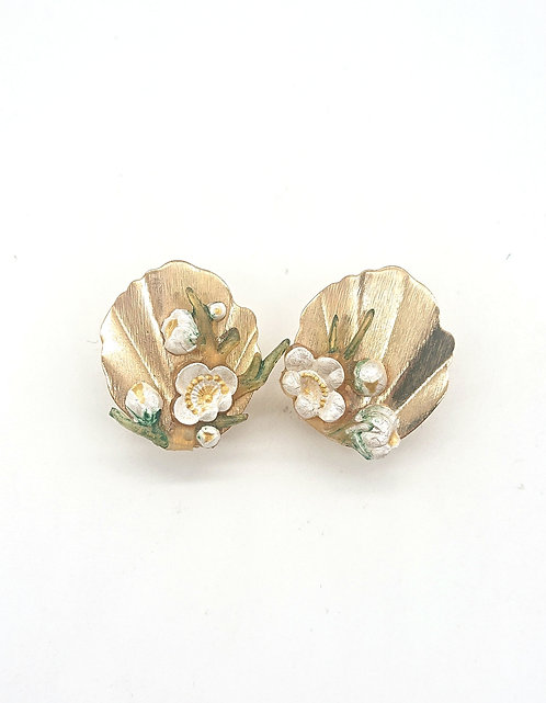 Copy of Handpainted floral clipons