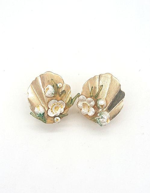 Handpainted floral clipons