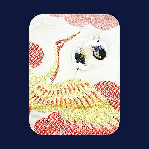 Kyoto pair of crane earrings