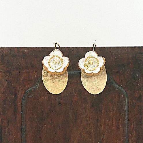 Cherry blossom hook earrings