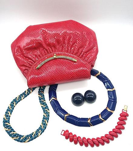 Finesse La Model red purse