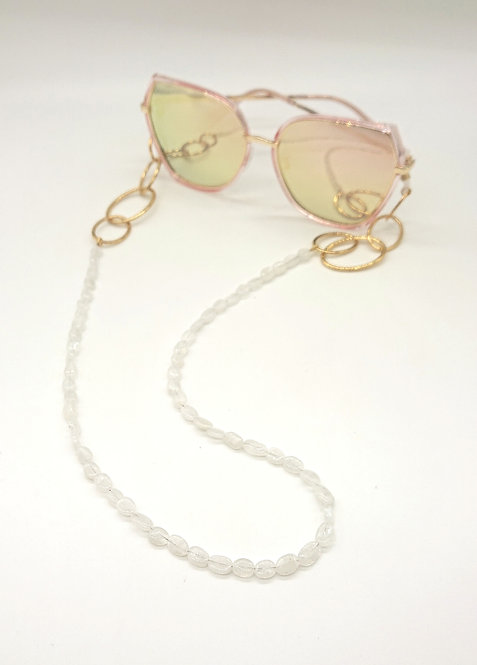 Natural moonstone glasses chain