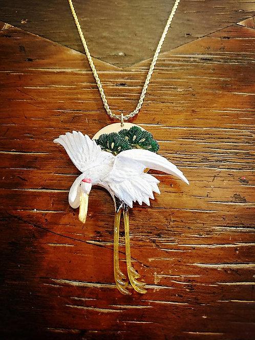 Kyoto crane necklace