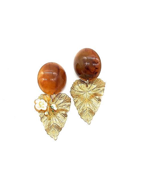 Handpainted floral earrings