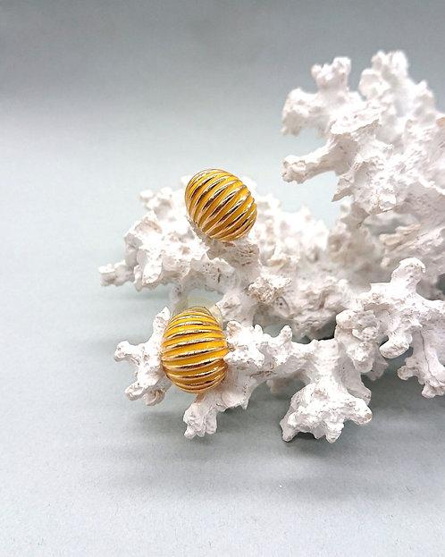 Simple yellow earrings
