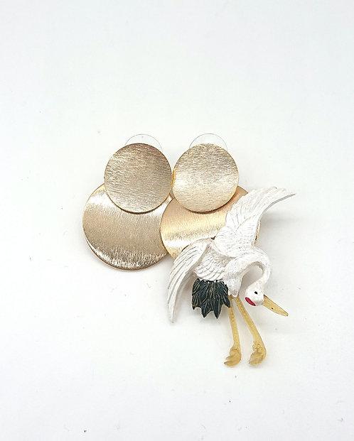Crane earrings for left side