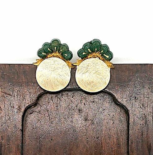 Pine leaf earrings