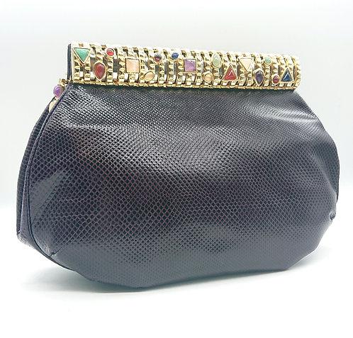 Dark purple Judith Leiber purse