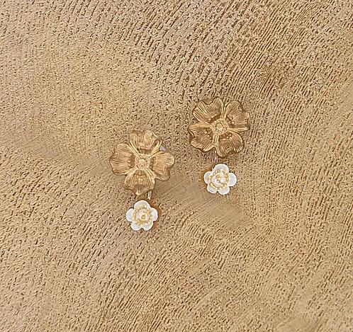 Sweet handpainted floral earrings