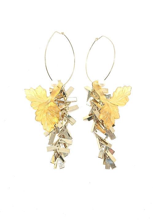 Loop Kyoto leaf earrings