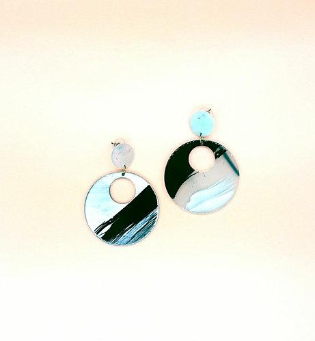 Big pendant earrings