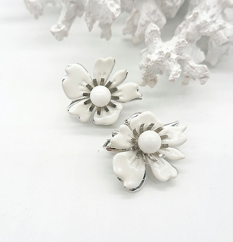 Sarah Coventry floral clipons