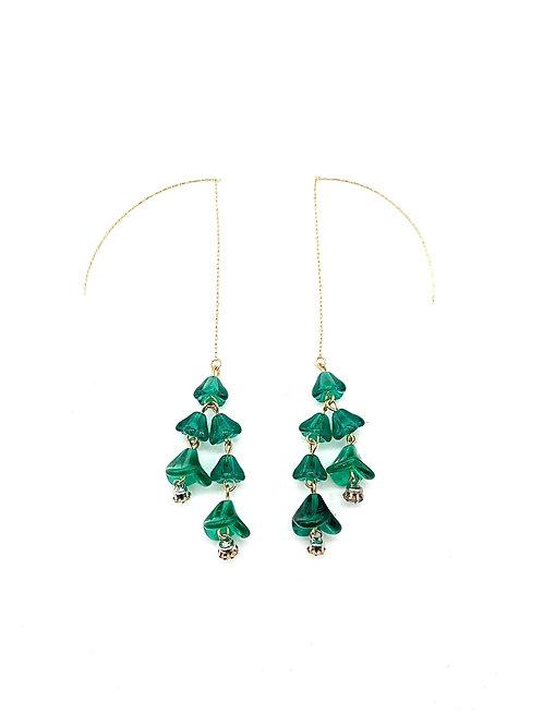 Festoon dangling earrings
