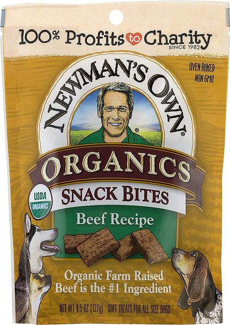 Organic Beef Flavor Dog Snack Bites