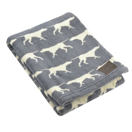 Tall Tails Charcoal Icon Blanket