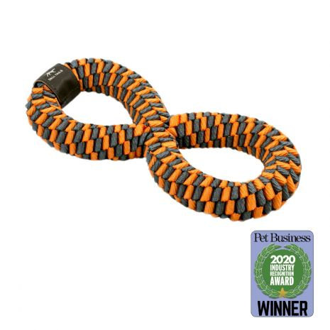 Tall Tails - Braided Infinity Tug, Orange