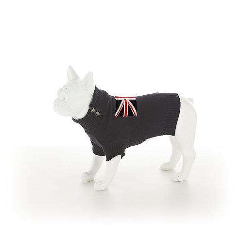 Hugo & Hudson Grey Union Jack Dog Jumper