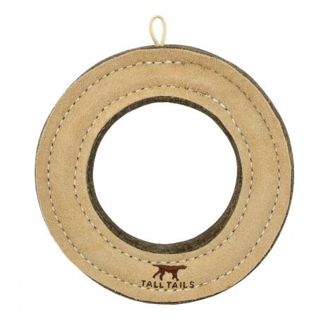 Tall Tails - Natural Leather & Wool Ring Toy