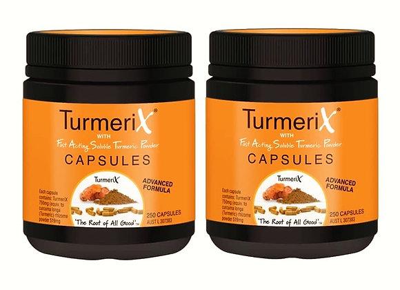 Turmerix Kapslar 2 burkar - 300st