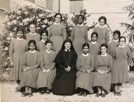 Sr. Editta (second row/first on right) with the other Novices in Monte Mario