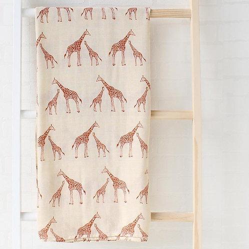 Giraffe Swaddle Blanket
