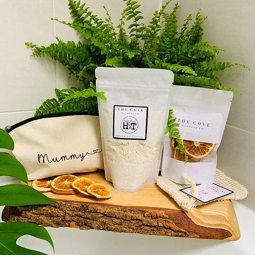 Mummy Me Time Organic Bath milk gift set
