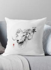 The Ram Zodiac - Illustration - Pillow Cover