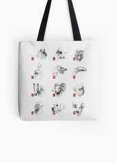 The Chinese Zodiac - Illustration - Tote Bag