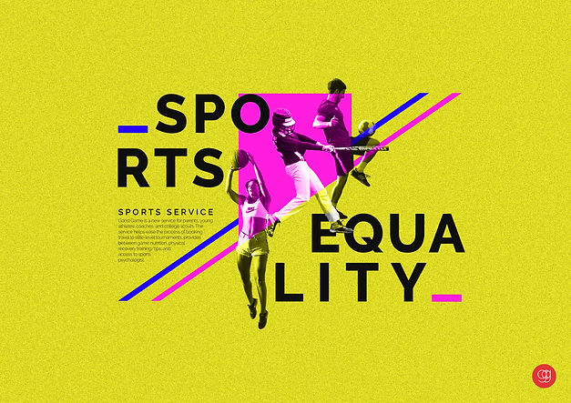 Good Game sports service branding project with poster and logo design