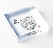 The Tiger Zodiac - Illustration - Acrylic block