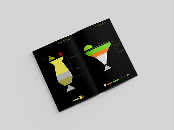 The good journey project cocktail simple minimal graphic design booklet infographics