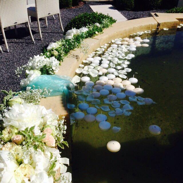 decorazioni floreali fontana