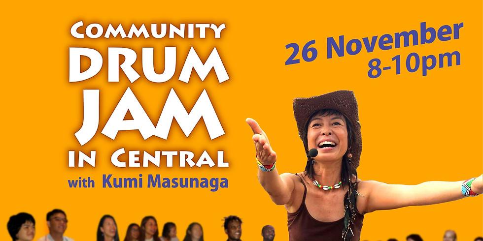 Community Drum Jam in Central Nov 26 - 中環 齊鼓樂 11月26日