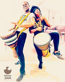 Drum Jam Hong Kong's African drummers are not only men. Our female drummers are as powerful as their male counterparts!