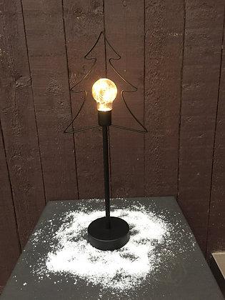 Verlichte ijzeren kerstboom groot H 46 cm