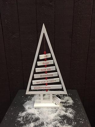 Kerstboom met tekst H 42 cm