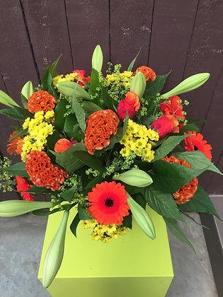 Fleurig oranje boeket
