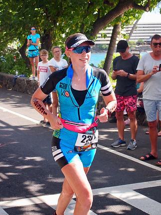 Angela Quick C. Ped (C) competing at Ironman World Championships 2018