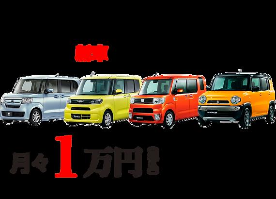 ポイント1 新車の軽自動車 月々1万円 から乗れる