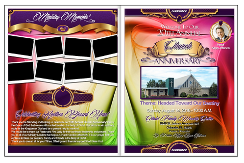 Church Anniversary Program Design