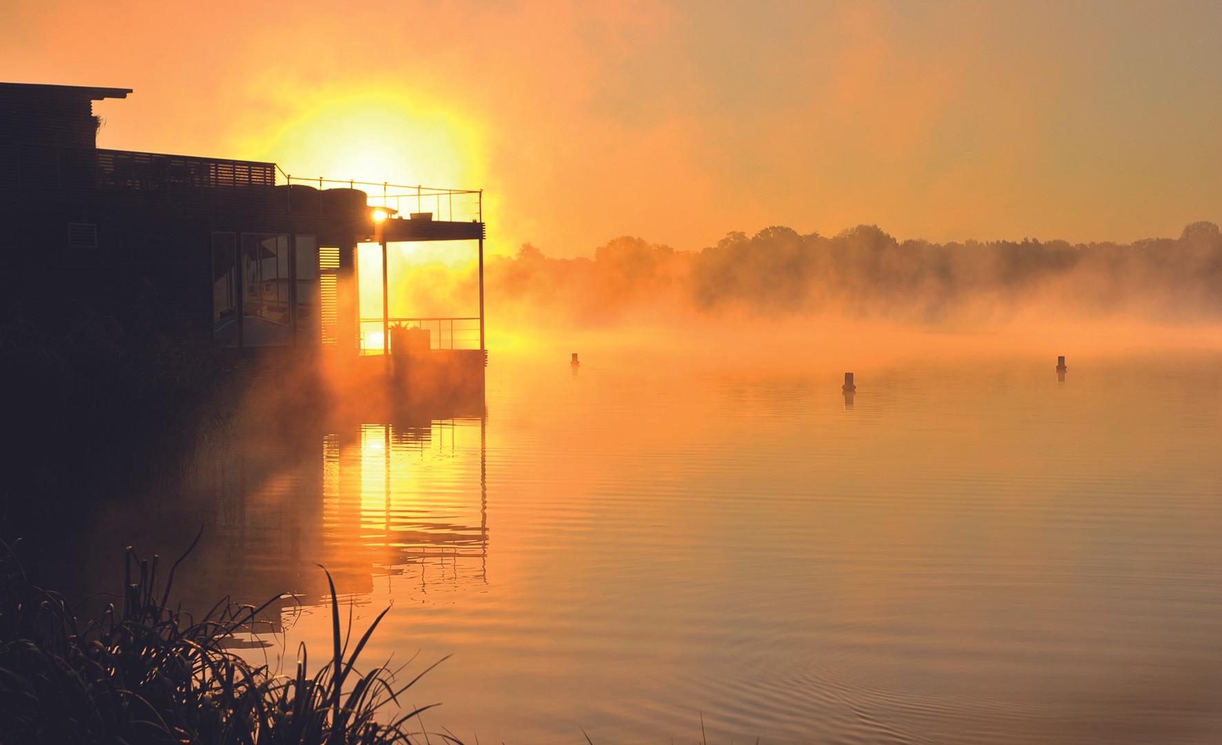 Deutschlands größte schwimmende Seesauna