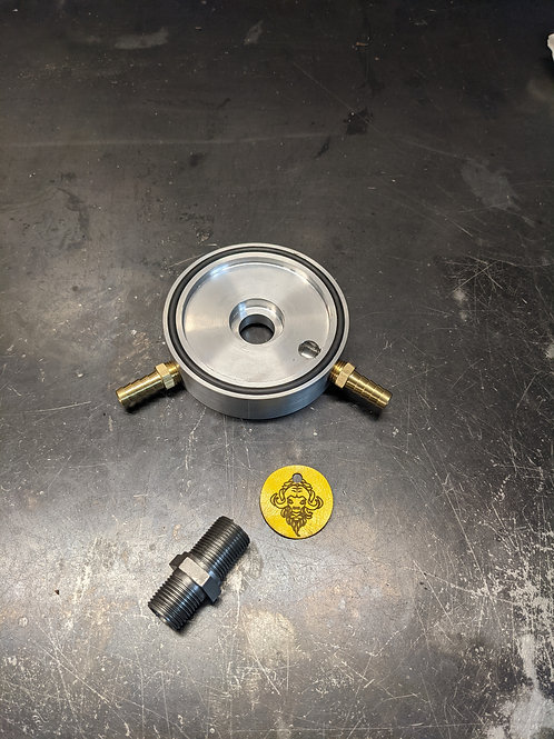 Oil Cooler Adaptor with Screw On filter