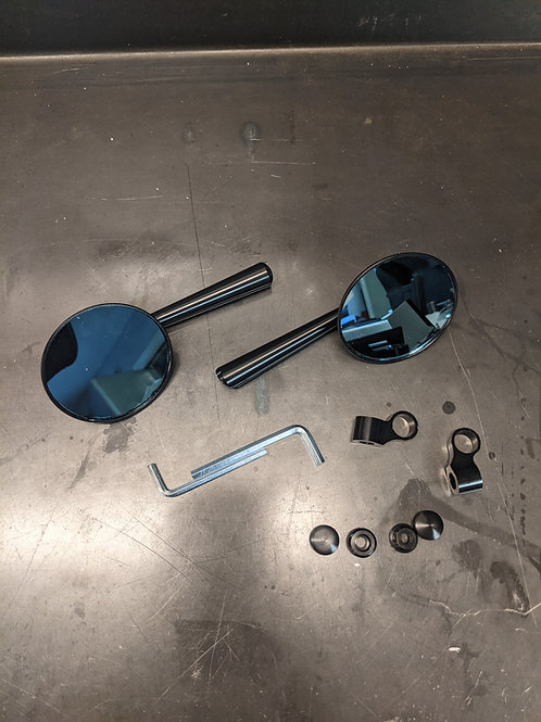 Cafe Racer Mirrors - Solid Aluminum