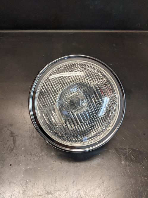 Head Light Unit 6.25 Chrome with H4 bulb