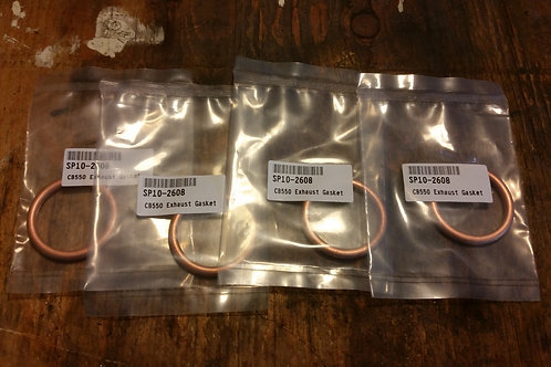 CB550 EXHAUST CRUSH GASKETS - set of four