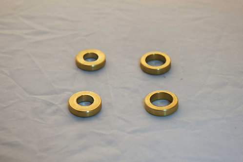 Brass Spacers for after market shocks- Set of 4