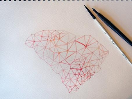 DIY Watercolors and Geometric Designs